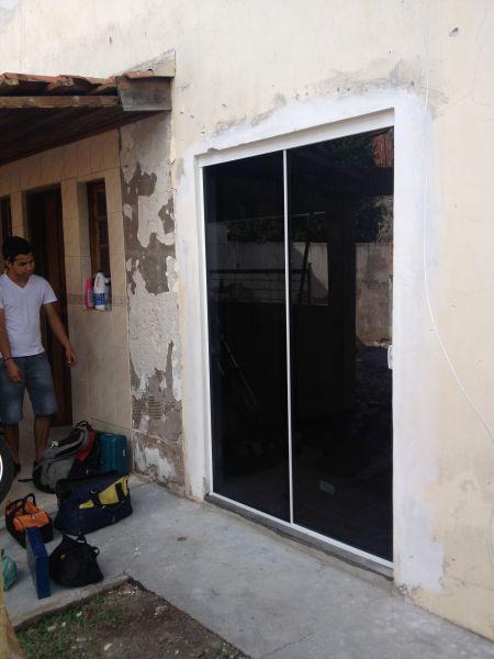 Porta De Vidro Temperado 8 Mm Loja De Avanti Esquadrias